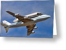 Final Flight Endeavour Greeting Card