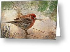 Finch Greeting Card With Verse Greeting Card