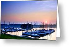 Fine Sailing Morning Coming Up Greeting Card