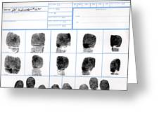 Fingerprint Identification Application Greeting Card