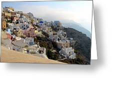 Fira In Santorini Greeting Card