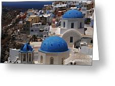 Fira Santorini Greeting Card