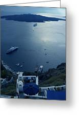 Fira Town View Santorini Greeting Card