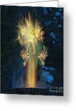 Fire Angel Greeting Card