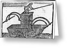 Fire Engine, 1769 Greeting Card