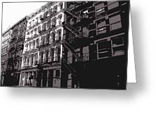 Fire Escapes Bw3 Greeting Card