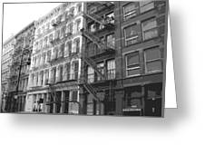 Fire Escapes Bw6 Greeting Card by Scott Kelley