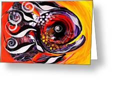 Fire Fish Four And A Half Greeting Card