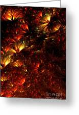 Fire-flowers Greeting Card