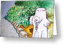 Fire Hydrant Sketchbook Project Down My Street Greeting Card by Irina Sztukowski
