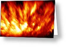 Fire In The Starry Sky Greeting Card