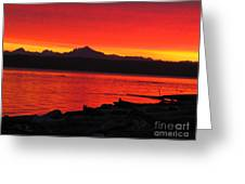 Fire Morning Greeting Card