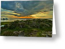 Fire Over The Outer Banks Greeting Card