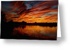 Fire Sky II  Greeting Card