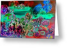 Fire Storm Abstract Greeting Card