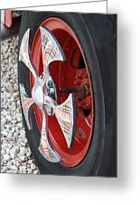 Fire Truck Spinner Greeting Card