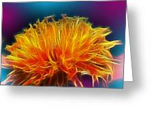 Fire Woven Dandelion Greeting Card