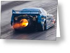 Fireforce Jet Funny Car Greeting Card