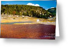 Firehole Lake Greeting Card