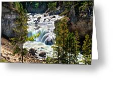 Firehole River Falls Greeting Card