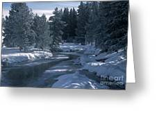 Firehole River In Yellowstone Greeting Card