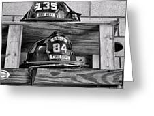 Fireman - Fire Helmets Greeting Card