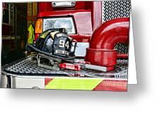 Fireman - Helmet Greeting Card
