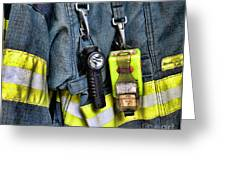 Fireman - The Fireman's Coat Greeting Card