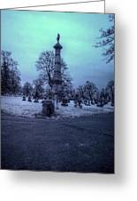 Firemans Monument Infrared Greeting Card