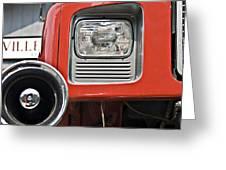 Firetruck Light And Horn Greeting Card