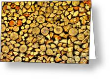 Firewood Greeting Card