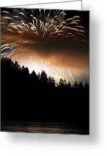 Firework Display At The Celebration Of Light In Vancouver Canada 2011 Greeting Card