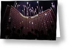 Fireworks At Treasure Island Greeting Card