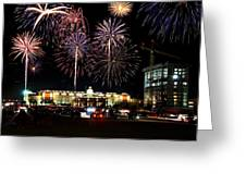 Fireworks Over Firelake Greeting Card