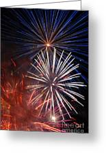 Fireworks Rectangle Greeting Card
