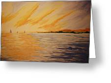 Firey Sunset Greeting Card