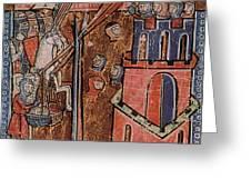 First Crusade Germ Warfare Siege Greeting Card