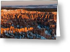 First Light At Bryce Canyon Greeting Card
