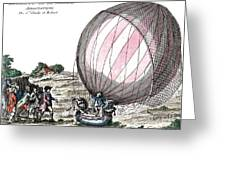 First Manned Hydrogen Balloon Flight Greeting Card
