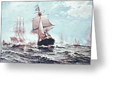 First Recognition Of The Stars And Stripes Greeting Card