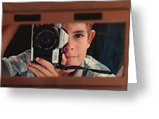 First Self-portrait Greeting Card by David Paul Murray