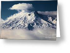First Snow At Mt St Helens Greeting Card