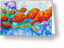 Fish Abstract Painting Greeting Card