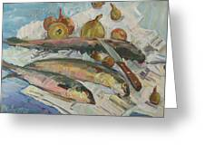 Fish Soup Greeting Card by Juliya Zhukova