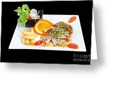 Fish Steak Greeting Card by Atiketta Sangasaeng