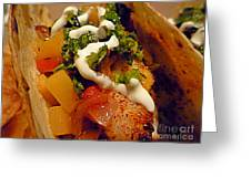 Fish Taco With Mango Salsa Greeting Card