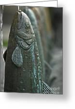Fish Up Greeting Card by David Taylor
