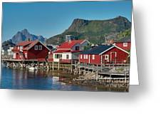 Fishermen's Houses Greeting Card