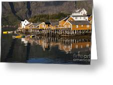 Fishermen's Village Sakrisoy  Greeting Card