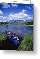 Fishing Boat On Upper Lake, Killarney Greeting Card